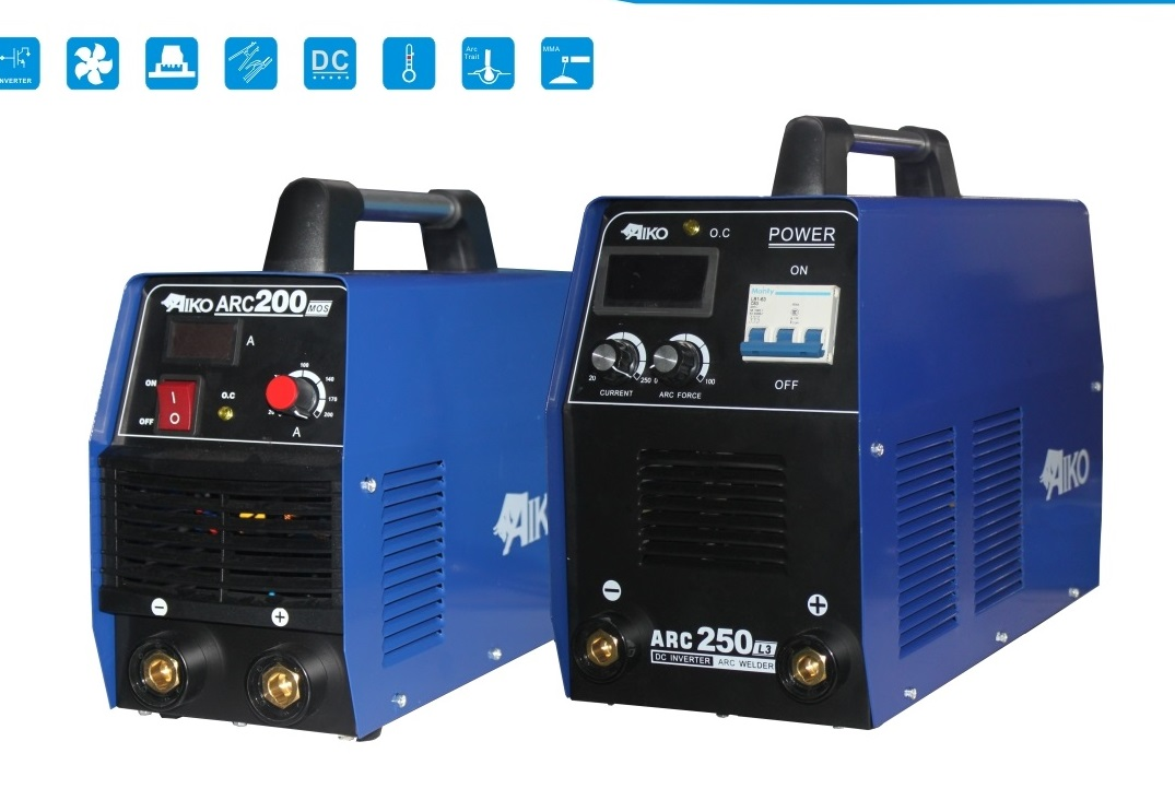 Inverter Arc Welding Machines Aiko Single Phase 250amp
